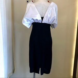 A.J. Bari Dresses - vintage 1990s dramatic black & white party dress